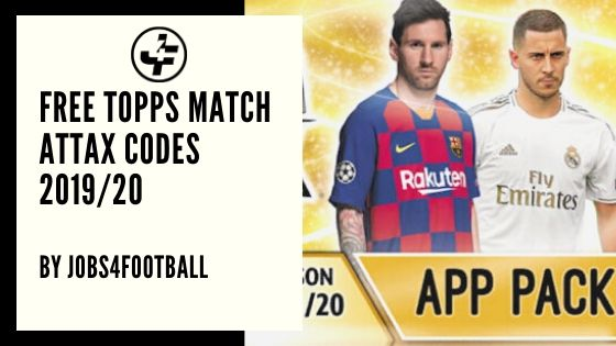 Free Topps Match Attax Codes 2019 20 Jobs4football